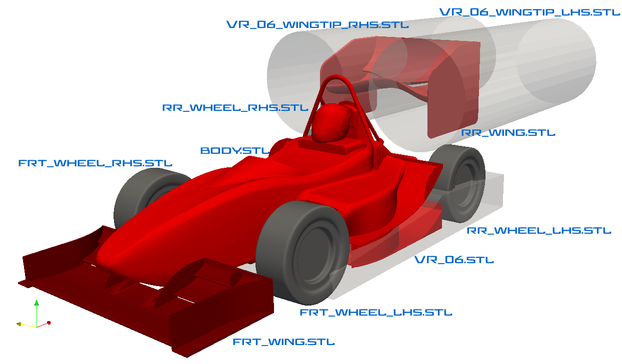 Formula student car for CFD